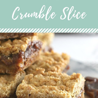 Oat & Date Crumble Slice - Conventional Method Recipe