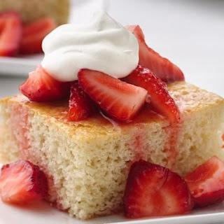 Healthified Strawberry Shortcake Squares