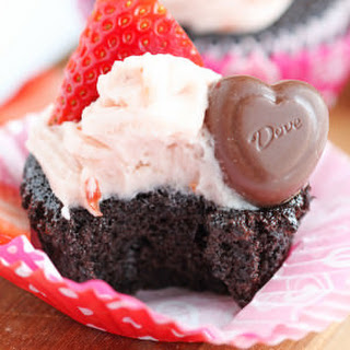 Chocolate Cupcakes with Strawberry Frosting