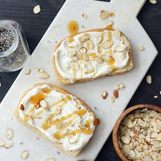 Lavender Almond Ricotta Breakfast Toast.