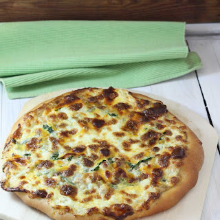 Tuna Florentine Pizza with Lemon Dill Aioli Recipe
