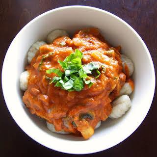 Gnocchi in a Tomato Basil Cream Sauce.