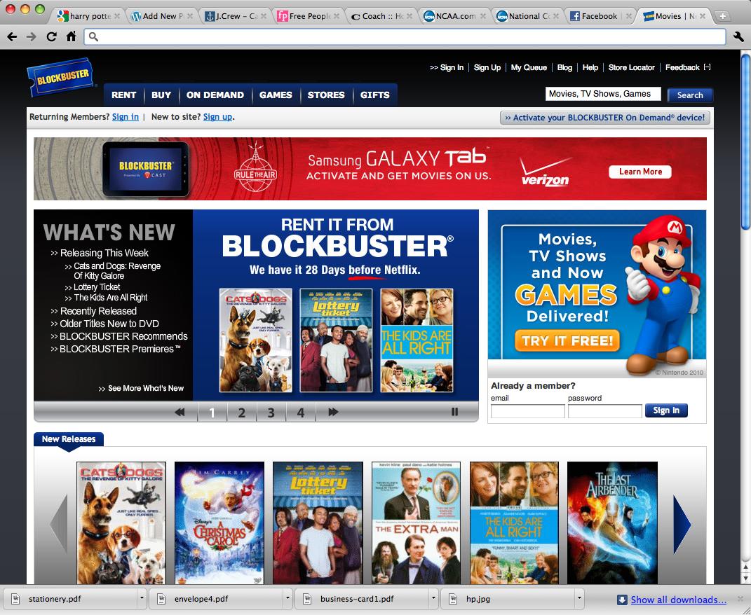 Block Buster old website