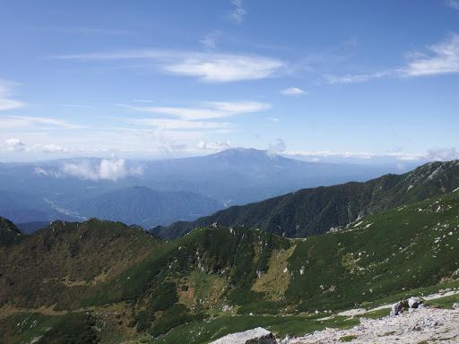 木曽御嶽山方面がよく見える