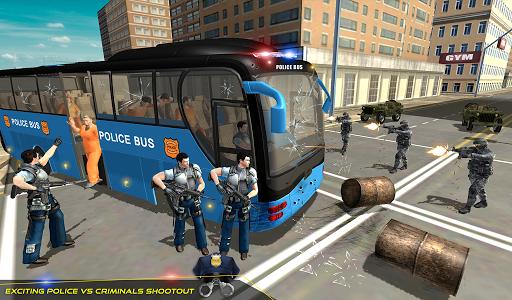 US Police Bus Transport Prison Break Survival Game 4.0 screenshots 9