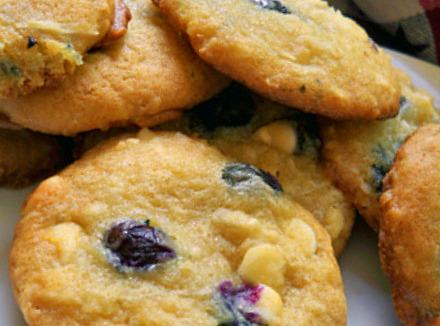 Blueberry/ Coconut/ White Chocolate Chip Cookies Recipe