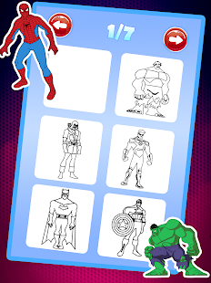 Superhero Coloring Book Pages Kids Coloring Games Android Apps