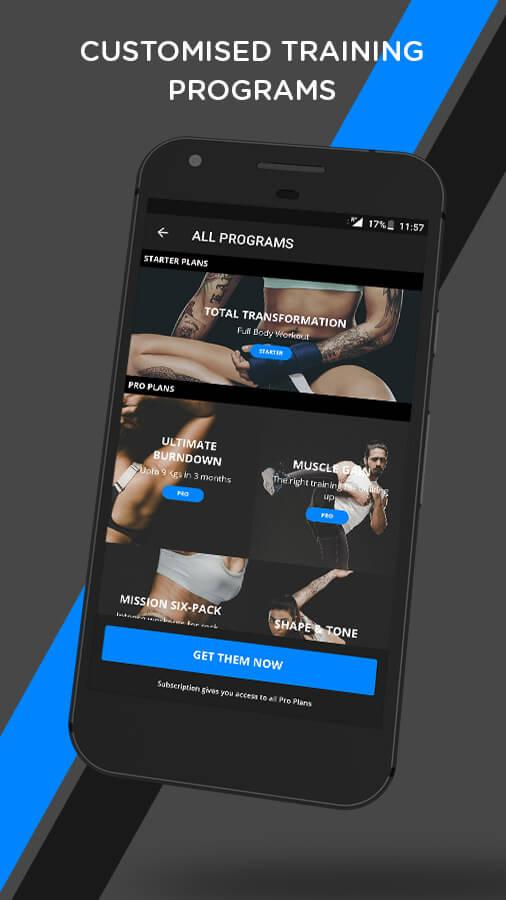 mobiefit BODY Home Workouts + Diet Plan- screenshot