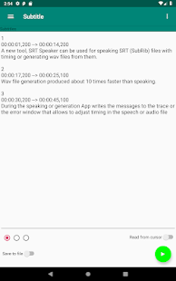 SRT Speaker - convert subtitles to audio or speech