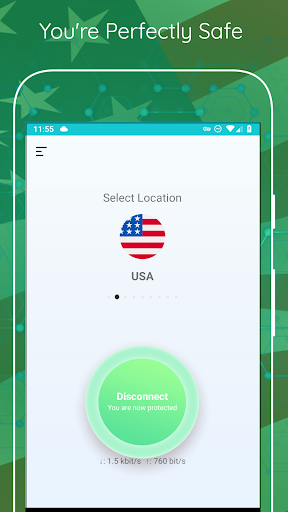 USA VPN - Unlimited , Free 2.1.5 screenshots 1