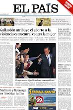 Photo: Día Internacional de la Mujer: Maltrato y liderazgo en América Latina; Gallardón atribuye el aborto a la violencia estructural contra la mujer; Rajoy apuntilla a la construcción con un recorte del 40% en inversión en la portada de este jueves, 8 de marzo http://srv00.epimg.net/pdf/elpais/1aPagina/2012/03/ep-20120308.pdf