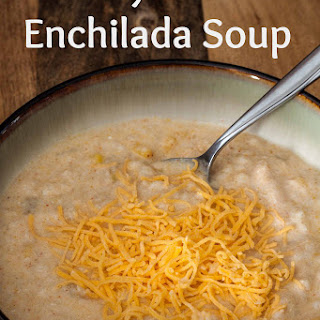 Creamy Chicken Enchilada Soup.