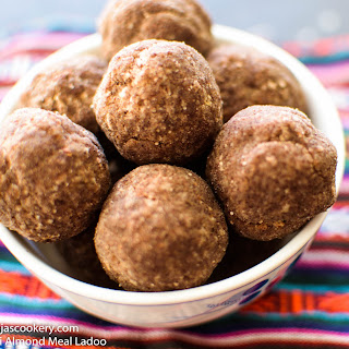 Ragi Almond Meal Ladoo.