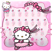 Pink Cute Kitty Keyboard 2018
