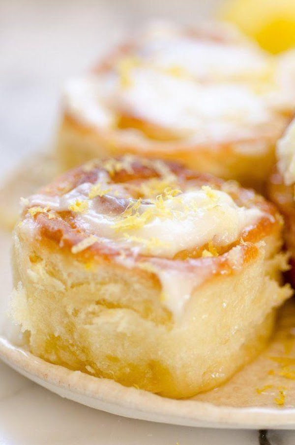 Lemon Rolls With Lemon Cream Cheese Glaze Recipe