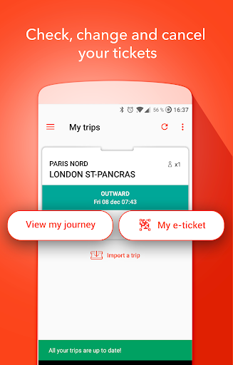 OUI.sncf - Train travel - screenshot