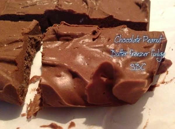 Chocolate Peanut Butter Freezer Fudge