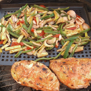 Grilled Chicken and Vegetable Fajitas