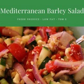 Mediterranean Barley Salad.