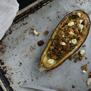Eggplant Stuffed with Quinoa and Goat Cheese Recipe