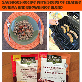 Grilled Glazed Sausage Recipe with Seeds of Change Quinoa and Brown Rice {Giveaway}