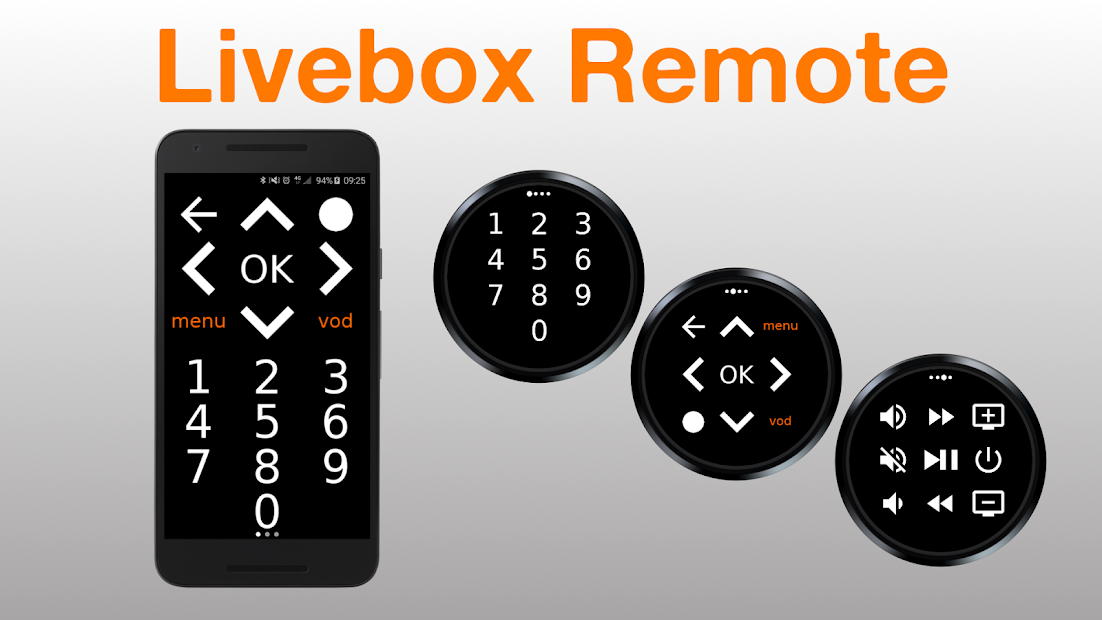 Livebox Remote Android App Screenshot