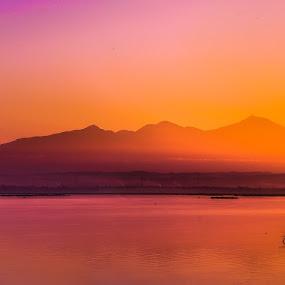 Twilight at Batu Jai by Alexander Nainggolan - Landscapes Waterscapes ( indonesia, twilight, batujai, lombok, fisherman, landscape,  )