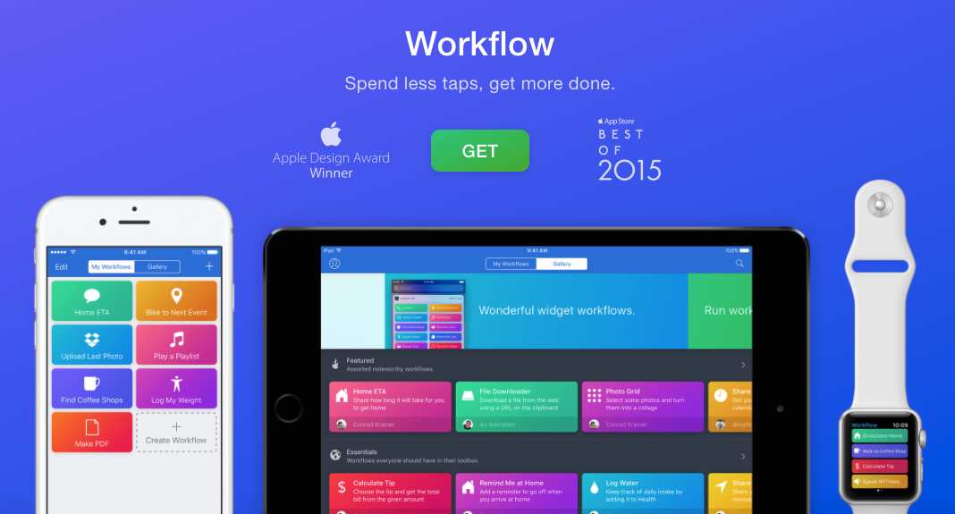 Workflow app for time management and automations