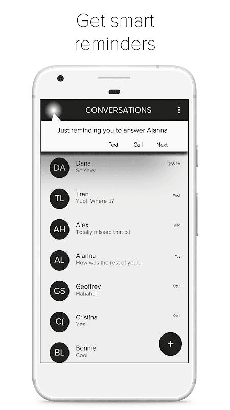 Mei: SMS Messaging + AI screenshots