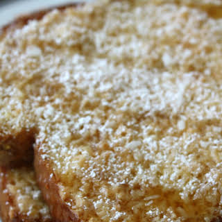 Baked Coconut French Toast.