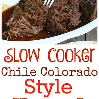Slow Cooker Chile Colorado Style Beef.