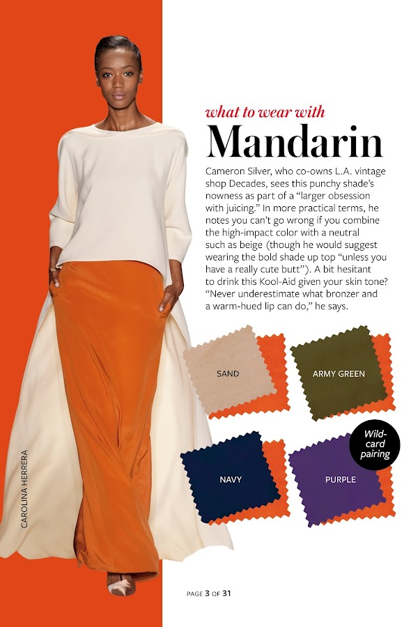 InStyle's Spring Color Guide 2014- screenshot