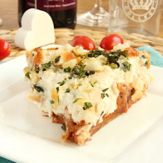 Bolognese Pie with Poor Mans Parmesan