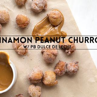 Cinnamon Peanut Churros with PB Dulce De Leche