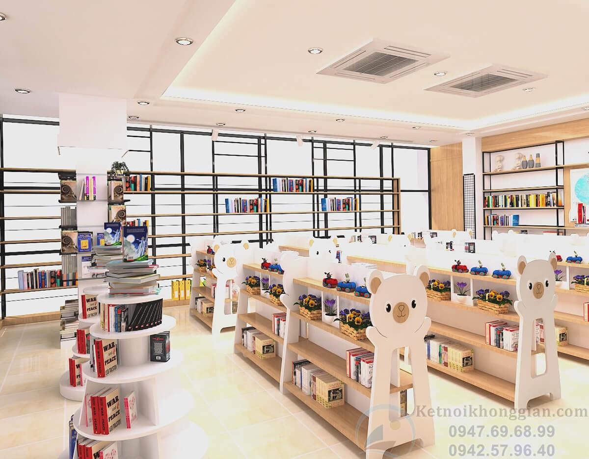 thiết kế nội thất nhà sách chất lượng cao