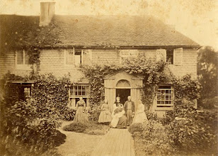 """Photo: Treeps, Wallace's wife's family home in Hurstpierpoint, Sussex. Wallace and Annie lived here for a year from mid 1867, and Wallace wrote """"The Malay Archipelago"""" here. Date of photograph unknown. Photographer: Unknown. Scanned with permission from an old print owned by the Wallace family. Copyright of scan: A. R. Wallace Memorial Fund & G. W. Beccaloni."""