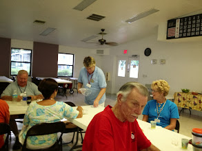 """Photo: Afer supper on Saturday, Alice led the group in a game...we all wrote down our answer to """"What one thing would you change about your spouse?""""  What a hoot!!"""