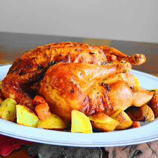 Orange Lavender Whole Roasted Chicken