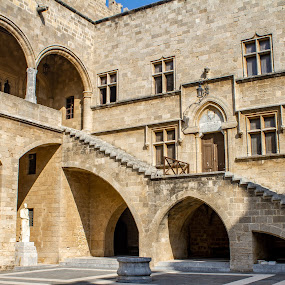 by William Stansbury - Buildings & Architecture Public & Historical ( palace of grand masters, order of st john, greece, rhodes, ancient arcitecture )