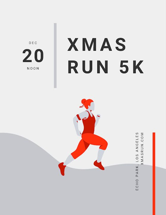 Xmas Run 5K - Christmas Template