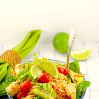 Thai Chicken Noodle Salad with Peanut Lime Dressing.
