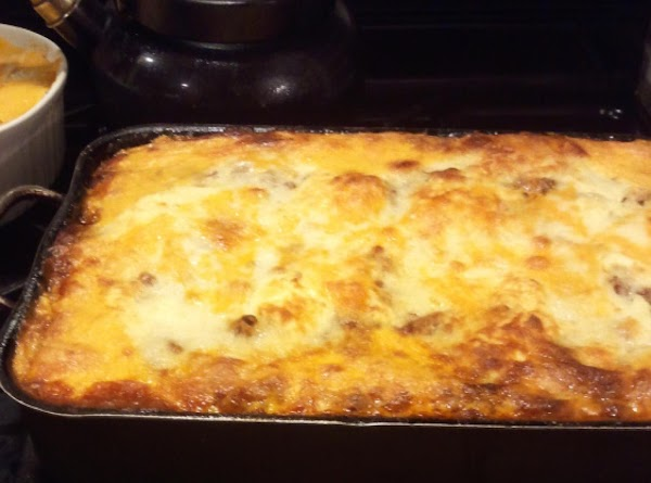 This Lasagna could easily be called a MEAT LOVERS LASAGNA,  because my husband...