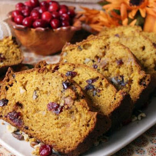 Thea's Cranberry Pumpkin Bread.