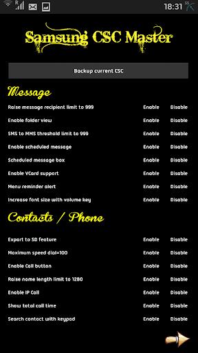 Samsung CSC Master+Tweaker Pro screenshot 2