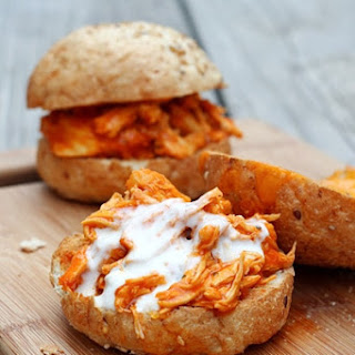 Shredded Buffalo Chicken Sandwiches (Slow Cooker).