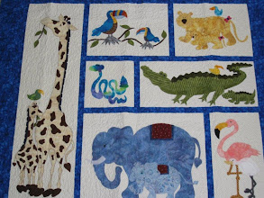 Photo: Closer look at the animals on the bottom of Shannon Slagle's Baby Steps Quilt.