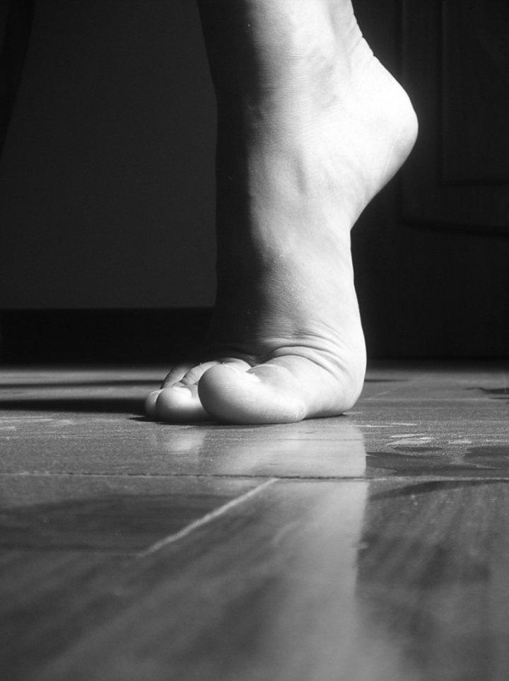 In punta di piedi di pisulante