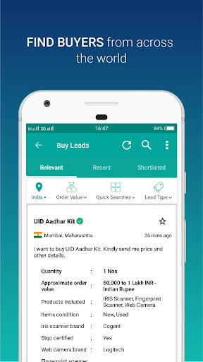 IndiaMART: Search Products, Buy, Sell & Trade Aplicaciones (apk) descarga gratuita para Android/PC/Windows screenshot