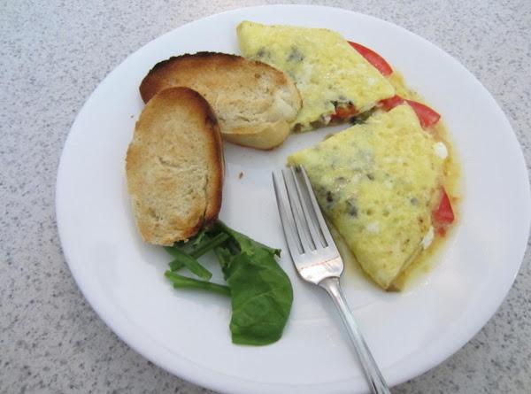 Tomato And Cream Cheese Omelet Recipe