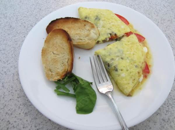Tomato And Cream Cheese Omelet Recipe